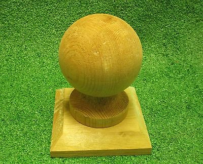 Ball Finial Post Cap   To Suit 4'' Fence Post