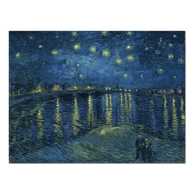 Van Gogh Painting Repro Canvas Print Wall Art Home Decor Starry Night Poster