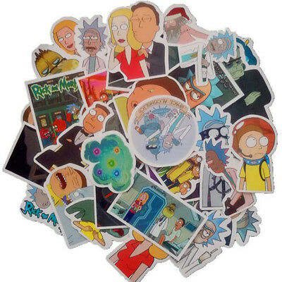 Rick and Morty Sticker Decal For Cars  Motorcycle Notebook Waterproof Sticker