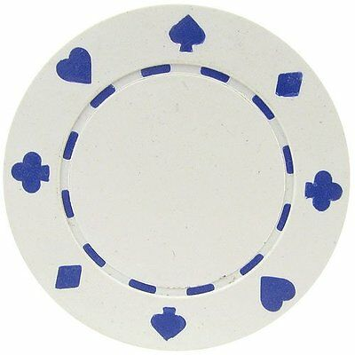 50 Clay Composite Suited 11.5-Gram Poker Chips (WHITE)