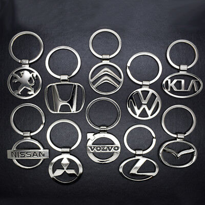 Hot Mens 3D Hollow Car Logo Metal Keychain Key Chain Pendant Holder Key Ring New