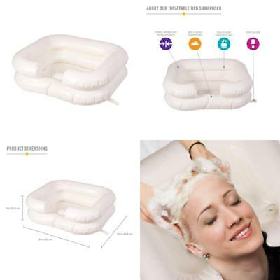 Portable Shampoo Basin Deluxe Inflatable Medical Patient Vinyl Hair Wash Bowl