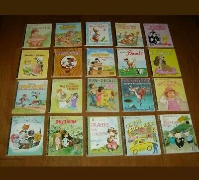 Lot Of 10 RANDOM  Little Golden Books Disney Vintage New Teacher Book