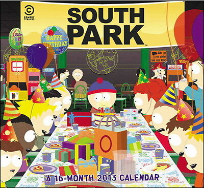 South Park TV Series 16 Month 2013 Wall Calendar NEW SEALED UNUSED