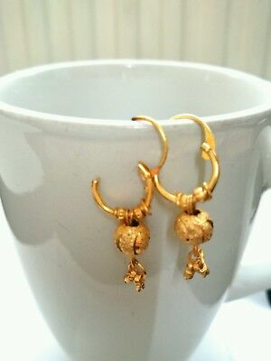 Gold Plated Earrings Hoops  Indian Asian Jewelry Wedding party