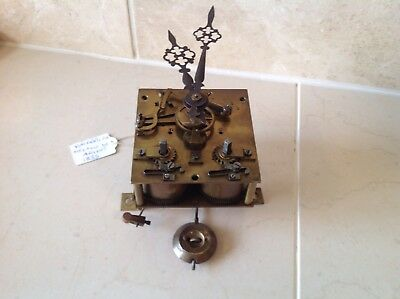 French Clock Movement Vincenntie Et Cie Circa 1855 Pendulum Hands Present