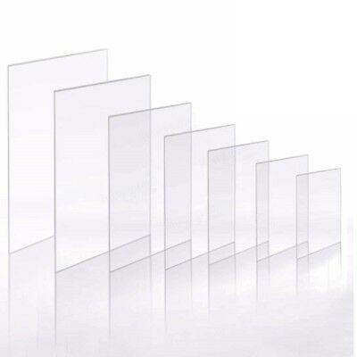 Clear Acrylic Perspex Plastic Sheet Replacement CUT TO SIZE