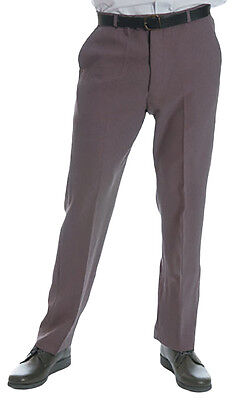 Men's Bowling Trousers (with Belt)  - Grey  -  Lawn Bowls , Sports*