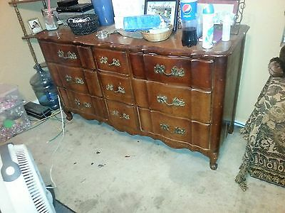 Vintage HUNTLEY  Long Dresser & Chest of Drawers to Restore. 75 + Yrs.