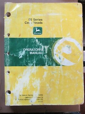 John Deere 90 Series Corn Heads Operator's Manual OMH151008 Issue 14 - Used