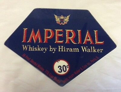 Vintage NOS Imperial Whiskey by Hiram Walker rotating shot cost , Lucite