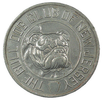 U.S.A. THE BULL DOG CLUB OF NEW JERSEY white metal 54mm.