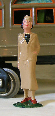 Hostess in khaki suit, Standard Gauge train layout figure, New/Reproduction