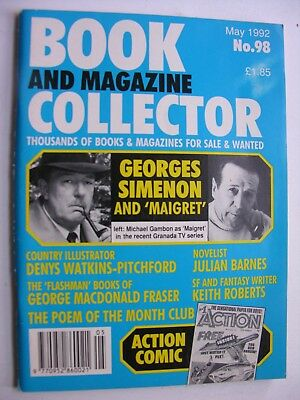 BOOK & MAGAZINE COLLECTOR May 1992 No 98 Georges Simenon Denys Watkins-Pitchford