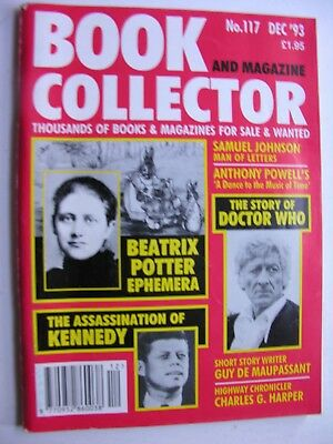 BOOK & MAGAZINE COLLECTOR Dec 1993 117 JFK Beatrix Potter Doctor Who Maupassant