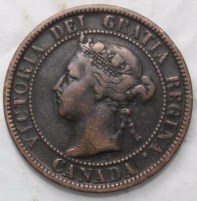 Canada 1900 No H Large Cent, Key Date, Old Date Queen Victoria