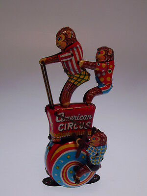"TPS ""AMERICAN CIRKUS""  M JAPAN, 15cm HOCH, WIND UP OK, NEUWERTIG / NEARLY NEW !"