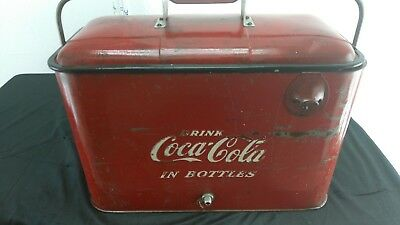 Vintage Embossed Coca Cola Metal Ice Chest
