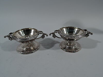 William Gale Open Salts - Antique Classical - American Sterling Silver - 1862
