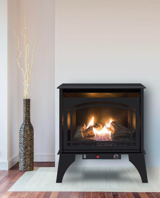 Gas Stove Propane Vent Free Fireplace Natural Gas Space Heater Black Fireplaces