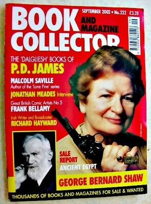 BOOK & MAGAZINE COLLECTOR Sept 2002 No 222 PD James Frank Bellamy Eagle GB Shaw