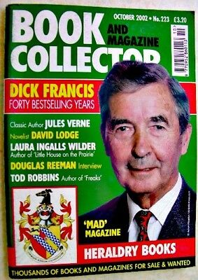 BOOK & MAGAZINE COLLECTOR Oct 2002 223 Dick Francis Verne Laura Ingalls Wilder