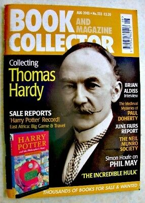 BOOK & MAGAZINE COLLECTOR Aug 2003 No 233 Thomas Hardy Brian Aldiss Paul Doherty