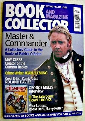 BOOK & MAGAZINE COLLECTOR Dec 2003 237 Patrick O'Brian George Melly Joan Fleming