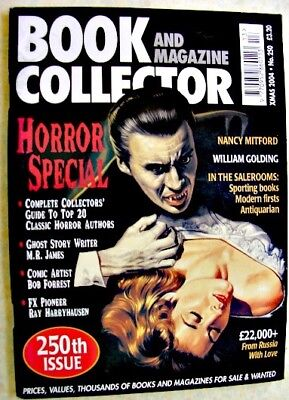BOOK & MAGAZINE COLLECTOR Xmas 2004 250 Horror Nancy Mitford William Goulding