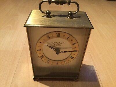 Antiques  Eurastyle quartz brass clock