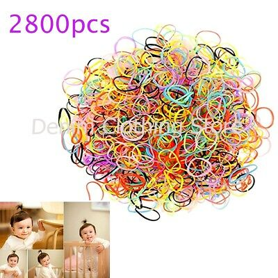 2800pcs Tiny Small Rubber Bands for Baby Girl Toddler Kids Hair Tie up Ponytail