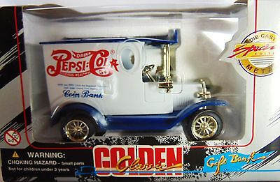 Pepsi Cola ~ Coin Bank Golden Classic Die Cast Special Edition Golden Classic