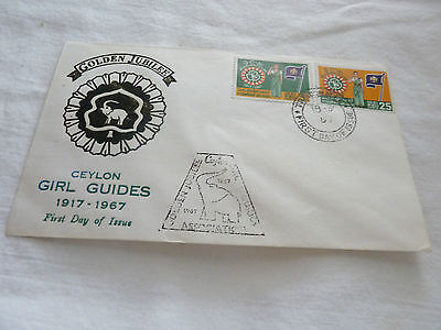 Ceylon 1967 Fdc Girl Guides Golden Jubilee  Rs
