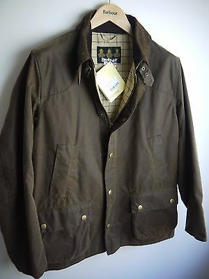 Barbour Men's Leedale Waxed Jacket, Brown, New With Tags, Large