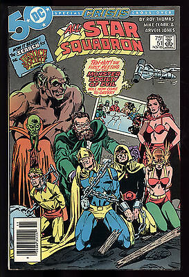 All Star Squadron (1981) #51 1st Print Crisis Crossover Mark Jewelers Ins FN/VF