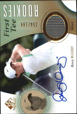 2014 SP Game Used Golf Card #56 Rory McIlroy Shirt Auto Rookie /199
