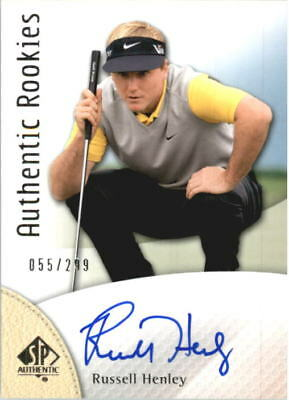 2014 SP Authentic Golf Card #105 Russell Henley Rookie Auto /299