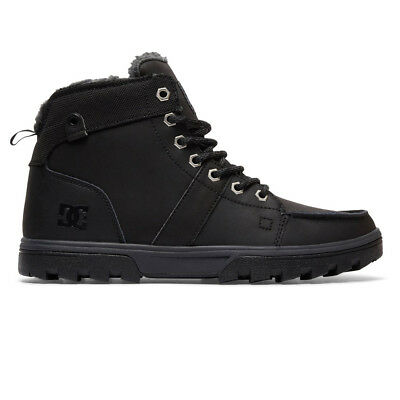 "DC Shoes ""Woodland"" Boots (BK/BK/GY) Men's Heavy Duty Waterproof Snow Shoes"
