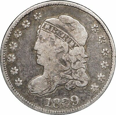 1829 Capped Bust Half Dime, Fine F