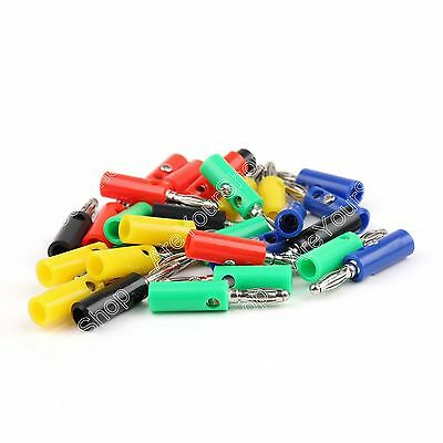 30 Pcs 4mm Banana Plug 5 Color For Power Amplifiers Binding Post BS US