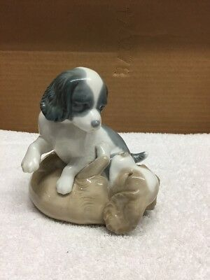 Nao Lladro Dogs Playing Figurine
