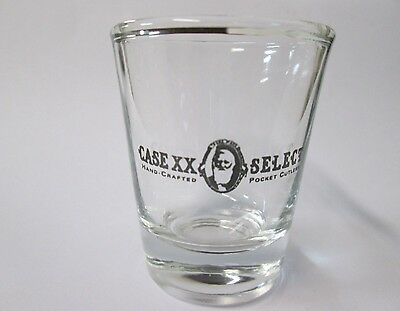 Case Knives Xx Select Logo On A Clear Shot Glass