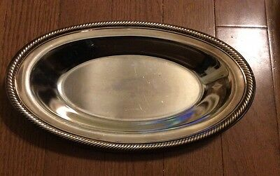 Wm Rogers-Silver Plated Oval Bread Serving Tray