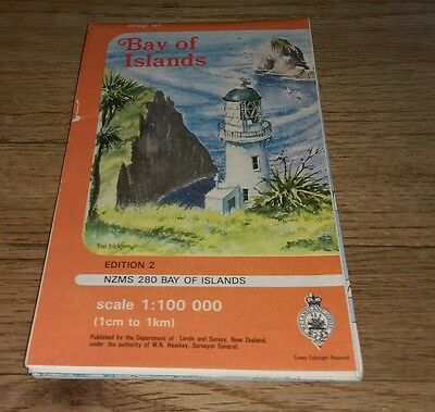 Map Of Bay Of Islands Edition 2 NZMS 280 Scale 1:100 000 New Zealand Land Survey