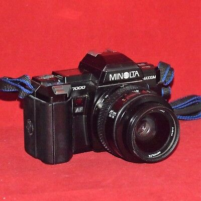 Minolta Maxxum 7000 35mm SLR Film Camera with Strap, 35-70mm Zoom TESTED WORKING