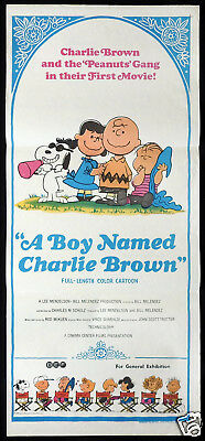 A BOY NAMED CHARLIE BROWN Original Daybill Movie poster Peanuts