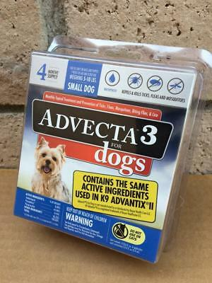 Advecta 3 for Small Dogs 5 - 10 lbs. 4 Month Supply 100% Authentic
