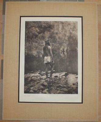 "Original Folio Photogravure By Edward S. Curtis ""the Apache"" Plate 7"