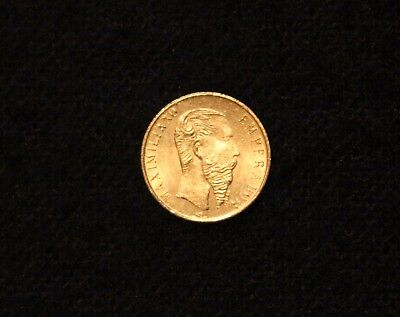 Mexico REAL Gold Maximilano Emperador 1865 1960 Fantasy COIN