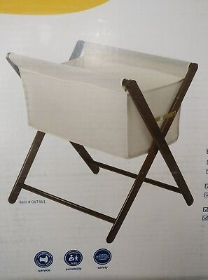 MOTHER'S CHOICE Baby Infant Bassinet Portable Folding Timber Bed Cot Crib